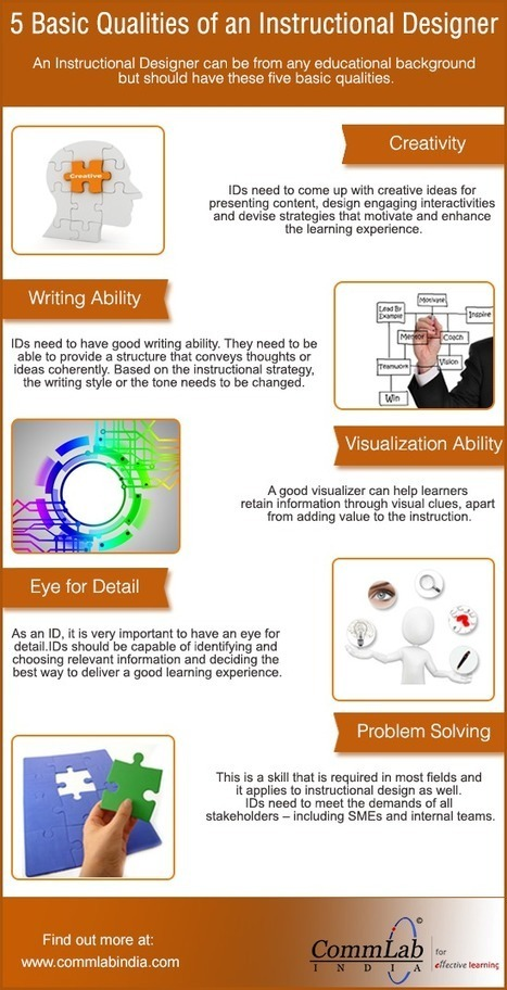 5 Qualities of a Good Instructional Designer – An Infographic | Edu-virtual | Scoop.it