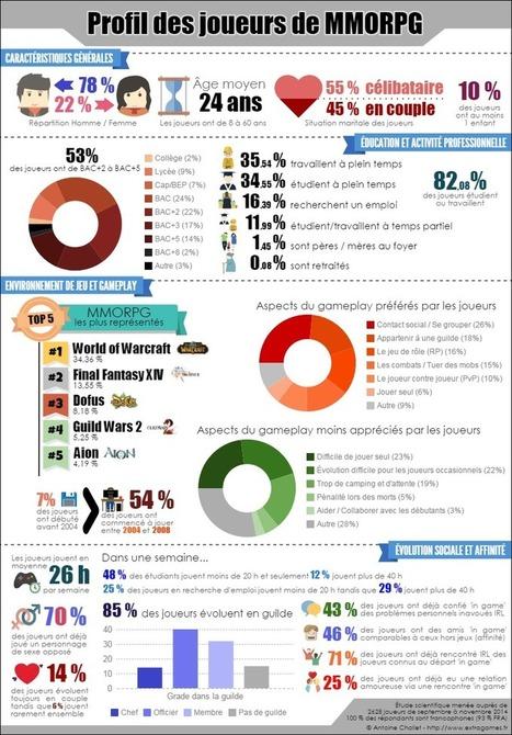 Infographie - Profil des joueurs de MMORPG | Sociologie du numérique et Humanité technologique | Scoop.it