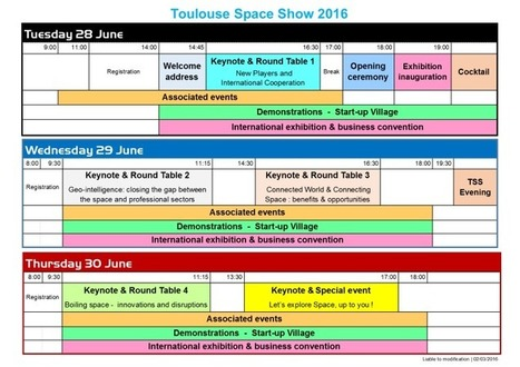Programme-at-a-glance – TOULOUSE SPACE SHOW'16 28-30 June 2016 | La lettre de Toulouse | Scoop.it