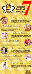 7 Amazing Benefits Of Bee Pollen Infographic | The Benefits of Bee Pollen | Scoop.it