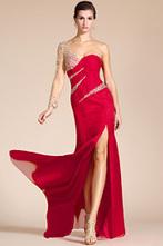 [EUR 69,99] Carlyna 2014 Nouveauté Une Manche en Perles Rouge Robe de Soirée/Bal (C36140802) | 2014Carlyna | Scoop.it
