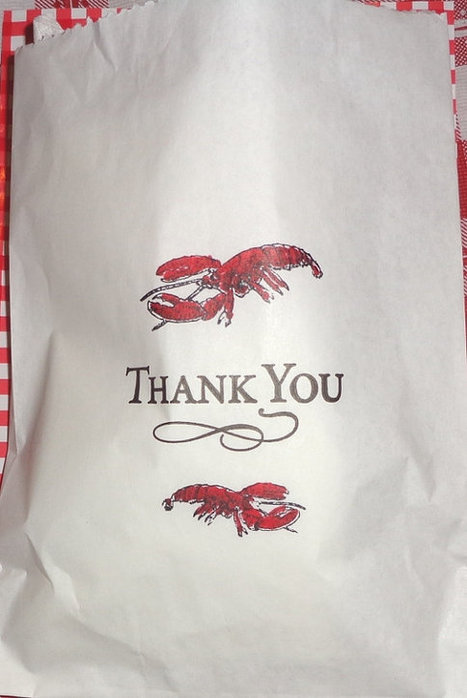 Red Lobster Party Favor Bags Glassine Wax Paper 5.75 x8 by ilPiccoloGiardino | Candy Buffet Weddings, Events, Food Station Buffets and Tea Parties | Scoop.it