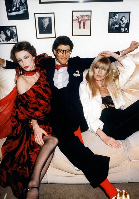 Yves St Laurent, Loulou de la Falaise and Betty Catroux, 1978 | Sex History | Scoop.it