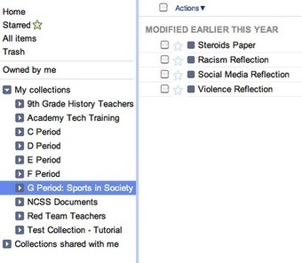The History 2.0 Classroom: Google Docs X Organizing & Promoting the Writing Process   6-Traits Resources   Scoop.it