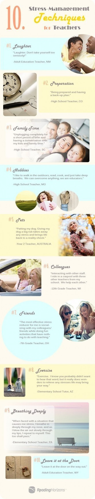 10 Stress-Management Techniques for Teachers Infographic | EFL ideas | Scoop.it