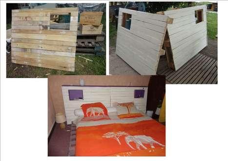 Pallet Bed Headboard   1001 Pallets ideas !   Scoop.it