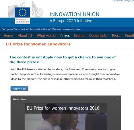 European Union Women Innovators prize 2016 - Innovation Union - European Commission | European startup news | Scoop.it