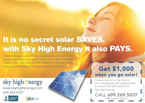 New Jersey Solar $1,000 Summer Coupon | Sky High Energy | Sky High Energy | Scoop.it