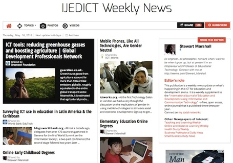 May 16, 2013: IJEDICT Weekly News is out | Education Futures | Scoop.it