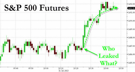 Who Leaked What At 10:26 AM? | Zero Hedge | Commodities, Resource and Freedom | Scoop.it