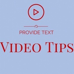 Video Directions - Provide Text Also  :: Teacher Tech :: Alice Keeler | Into the Driver's Seat | Scoop.it