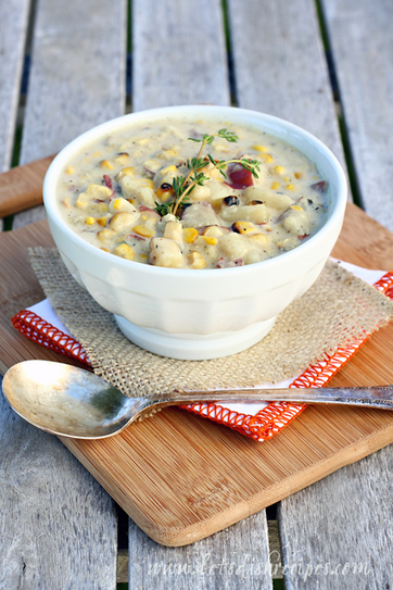 #RECIPE - Grilled Corn and Potato Chowder | chicken dinners | Scoop.it