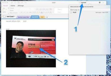Le gestionnaire d'information Microsoft OneNote pour Mac ajoute la reconnaissance OCR | Evernote, gestion de l'information numérique | Scoop.it