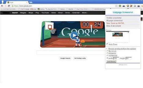 Webpage screenshot: extensión Chrome para capturar screenshots, editarlos y compartirlos | EDUDIARI 2.0 DE jluisbloc | Scoop.it