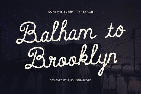 Balham to Brooklyn cursive handwriting font | My Typefaces | Scoop.it