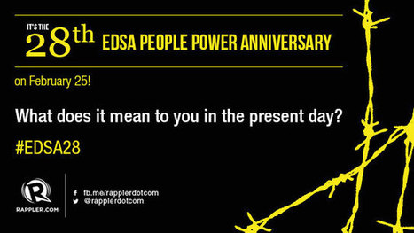 #EDSA28: Does the EDSA spirit live on in today's youth? - Rappler | Filipino Young People | Scoop.it