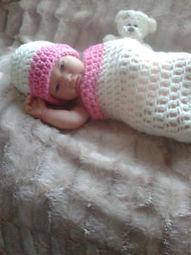 CROCHET COCOON AND HAT SET BABY PROP/BABY CLOTHES | crochet for babies | Scoop.it