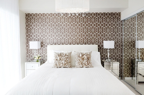 A Wallpaper Accent Wall | Brunch at Saks | Bedroom Wallpaper | Scoop.it