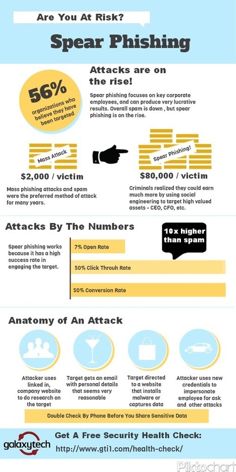 [INFOGRAPHIC] Spear Phishing – Are You At Risk?   GalaxyTech   Information Security and Technology   Scoop.it