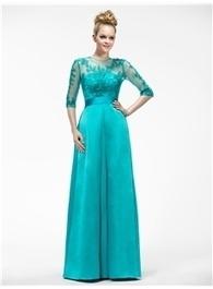 $ 112.99 Elegant A-Line Half-Sleeve Appliques Jewel-Neck Mother of the Bride Dress | Fashion ladies | Scoop.it