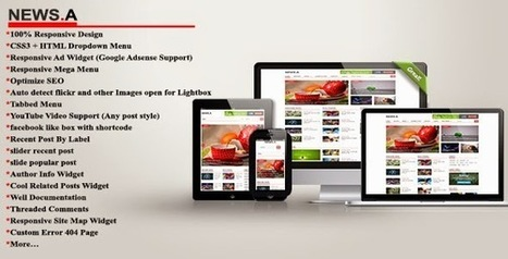 NEWS.A Smart Responsive Blogger Template | Blogger themes | Scoop.it
