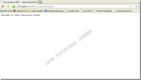Hello World RESTful Web service - Java Tutorials Corner - Appu T | Java Tutorials Corner | Scoop.it