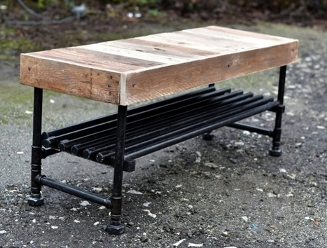 Reclaimed Pallets with Pipes Bench | Upcycled Objects | Scoop.it