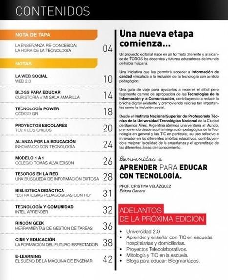 """Ya está disponible el primer número de """"Aprender para Educar con Tecnología""""   Las TIC y la Educación   Scoop.it"""