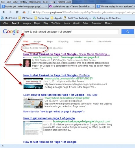 How to Get Ranked on Page 1 of Google | Google Plus and Social SEO | Scoop.it