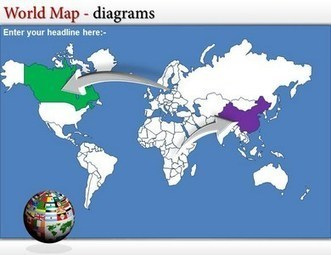 Download World Map PowerPoint Editable Template   Templatesforpowerpoint   Scoop.it