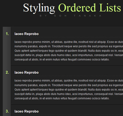 Styling HTML Lists with CSS: Techniques and Resources   Smashing Coding   Web Design & Dev Journal   Scoop.it