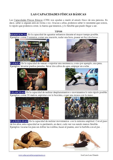 Las Capacidades Físicas Básicas en EF | Las capacidades condicionales en Educación Física | Scoop.it