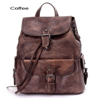 Stylish women's distressed leather backpacks satchel from Vintage rugged canvas bags | Collection of backpack | Scoop.it