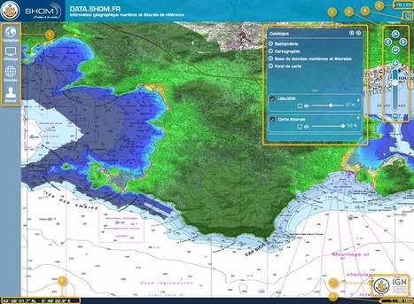 DATA.SHOM.FR - Le Portail de l'information géographique maritime et littorale | Portail de veille en Géomatique de l'ADEUPa | Scoop.it