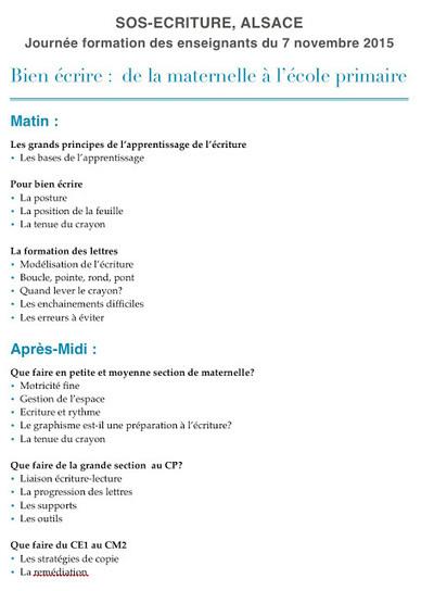 Formation en Alsace  Bien écrire : école maternelle, école primaire | Les troubles de l'écriture | Scoop.it
