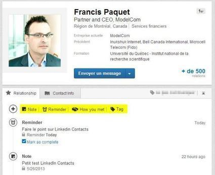 LinkedIn Contacts : Optimisez vos relations avec vos contacts | Time to Learn | Scoop.it