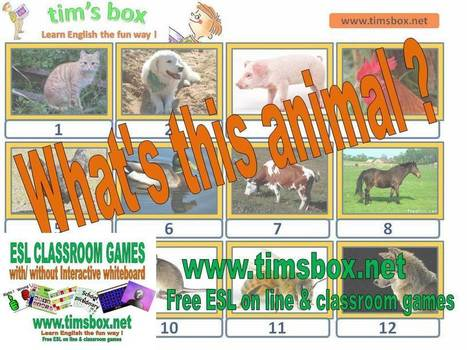 CLASSROOM GAMES- What's this animal ? | Teaching English ESL - Ressources anglais -timsbox | Scoop.it