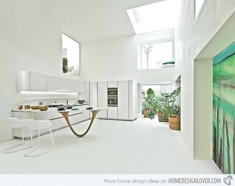 18 Trendy White Kitchen Design Concepts | House and Decoration | Home living Spaces - Kitchen - Bathroom - Living | Scoop.it