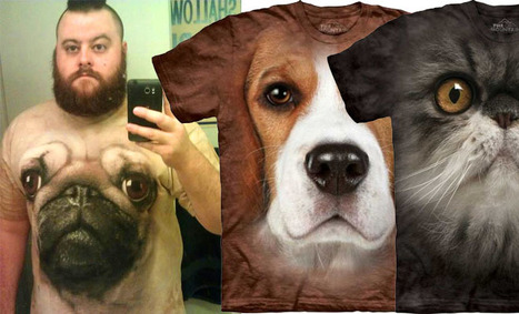 20 Most Funniest and Realistic 3D Dog Face T-Shirts | Cosas que interesan...a cualquier edad. | Scoop.it