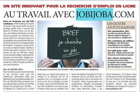 Au travail avec JobiJoba.com - Direct Matin - Édition nationale du 20 février 2014   Emploi et recrutement   Scoop.it