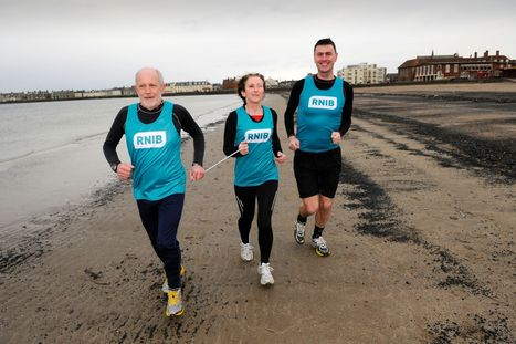 Blind runner takes on double marathon for Royal National Institute of Blind ... - Scottish Daily Record | Visual Impairment | Scoop.it