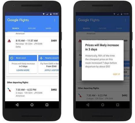 Google Flights notifie les vols et chambres d'hôtel moins chers | Référencement internet | Scoop.it