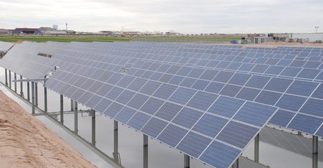 Solar panels here installed over a farms retention pond | Green Energy in the Americas and Latin America | Scoop.it