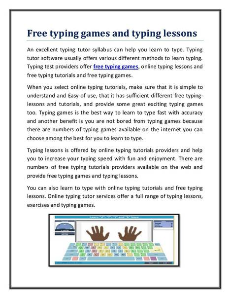 free typing games and typing lessons.pdf | free online typing and free online typing games | Scoop.it