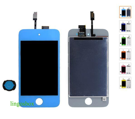New Genuine Light Blue iPod Touch 4 4G LCD+Touch Screen Panel Digitizer Assembly+Home Bottom | hot deals on lingosbox | Scoop.it