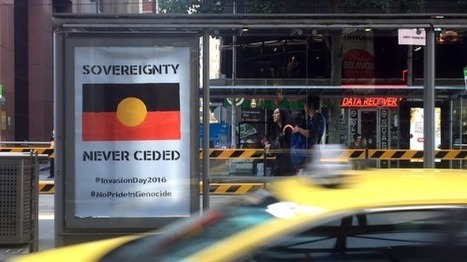 Anti-Australia Day posters, graffiti plastered around Melbourne's CBD | Aboriginal and Torres Strait Islander Studies | Scoop.it