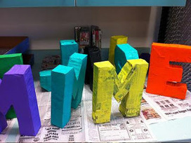 Letras con papel mache Tutorial | A divertirse | Scoop.it