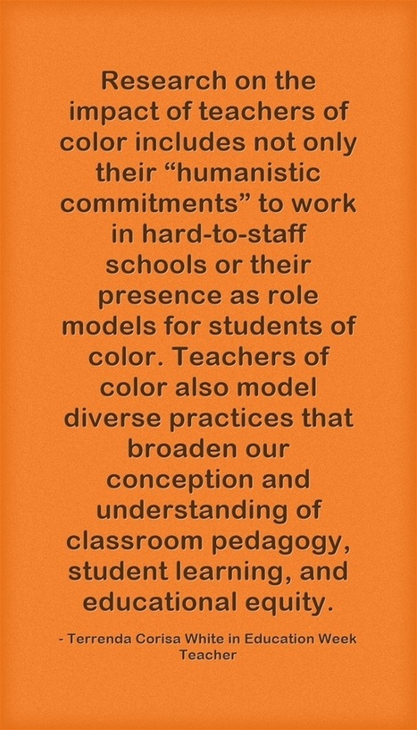 Response: The Teachers of Color 'Disappearance Crisis' | Conversations in English | Scoop.it