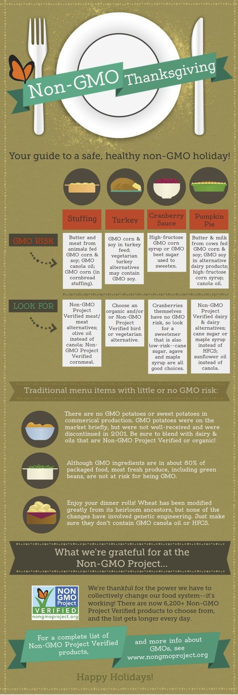 A Non-GMO Thanksgiving Infographic | Healthy Recipes and Tips for Healthy Living | Scoop.it