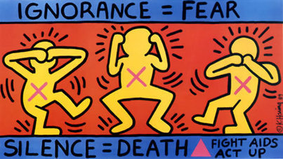 #047 ❘ Ignorance = Fear, Silence = Death ❘ 1989 (poster) ❘ Keith HARING (1958 - 1990) | # HISTOIRE DES ARTS - UN JOUR, UNE OEUVRE - 2013 | Scoop.it